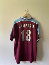 West Ham United Home 1999/01 Football Shirt Dr Martens #18 Lampard XL