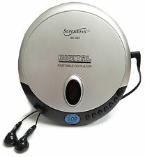 Supersonic Personal Portable CD player with Earphones CD-R CD-RW Disc SC251