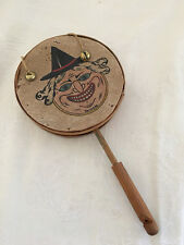 RARE - Vintage Made in Germany Halloween Witch Face Shaker w/Bells