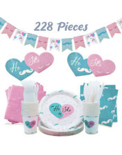 Baby Gender Reveal Party Supplies Kit For Baby Boy Or Girl Decorations 228 Pc Se