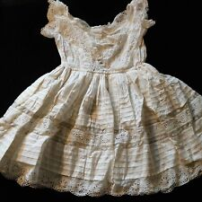 Genuine Antique Victorian Girls Broderie Anglaise And Lace Dress. Very Special.