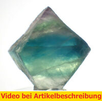 6541 ca 2,5cm polychromer Fluoritspaltoktaeder Fluorite Octahedron diamond MOVIE