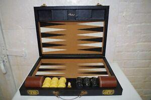 Antique Crisloid Tournament Backgammon Game Set - Catalin Pieces & Box
