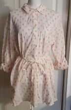 New Womens Liz Lange Maternity Long Sleeve Embroidered Button Tunic Shirt Sz XXL