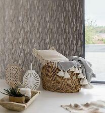 Sublime Rose Gold Theia Stria Metallic Textured Plain Wallpaper