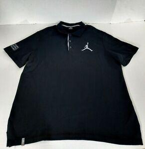 Nike Jordan Jumbo Jumpman #23 Polo Shirt Men Size XXL Black Gray 404399-012