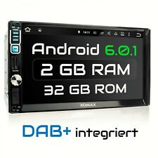 DAB+ AUTORADIO MIT ANDROID 6.0.1 2GB 32GB✔ NAVIGATION NAVI WLAN USB SD MP3 2DIN