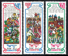 Israel 593-595, MNH. Purim Festival. Designs from Book of Esther, 1976