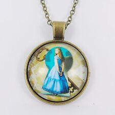 Alice nel paese delle meraviglie collana TIM BURTON DISNEY Mia Wasikowska IN VETRO FORO CHIAVE