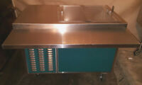 Refrigerated Cart Serving Line Servo-Lift/Piper Products Cafeteria Reach Cooler