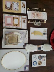 Locker Decoration Bundle w/ Magnetic Mirror, Organizer, Photo Holders, Shelf Rug