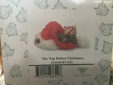 """Charming Tails """"The Nap Before Christmas"""" Figurine; 87/155; New; Factory Sealed"""