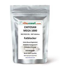 CHITOSAN MEGA 1000! 500 Tabletten - SB*: Fatblocker Diät Carb Blocker Low Fat