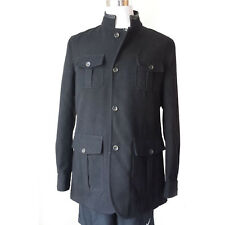 $285 BUGATCHI UOMO men size L wool blend black coat NWT Made in Italy