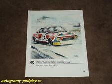 SKODA 130 RS (1976 BRNO CSSR) art by V. Bidlo - 1978 Skoda Karte/card 15x19 cm