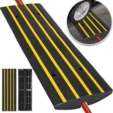 Pyle Car Driveway Curb Ramp - Heavy Duty Rubber Threshold Ramp PCRBDR24 1 piece