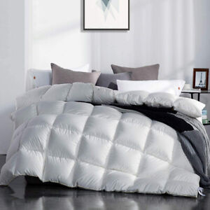 Luxurious Siberian 100% Goose Down Comforter 1200TC 300gsm White King/Queen