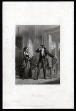 SURPRISE 1841 Alfred Theodosius Heath - Edward Henry Corbould  ANTIQUE ENGRAVING
