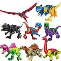 8 PCS Rex Indominus Dinosaur Figure Building Blocks Fit Lego kids Toys gift Sets