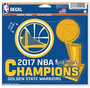 Golden State Warriors 2017 NBA Finals Champions Multi-Use Cut to Logo Decal