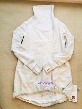 Lululemon Gratitude Wrap Jacket Heathered White Sz 6 2013 Release