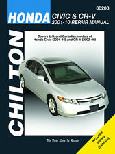 Chilton Repair Manual Honda Civic 2001-10 & CRV 2002-10 #30203 EXCLUDING CNG/HYB