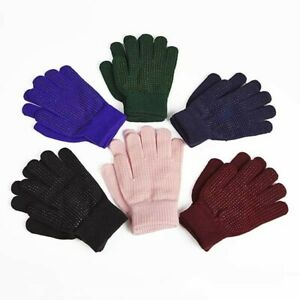 Expander Adults Horse Riding Pimple Grip Gloves - Purple - One Size - Elico