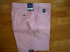 Izod Newport Oxford Shorts Flat Front Men's 40 NEW Saltwater Red