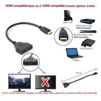 2 in 1 HDMI Kabel Splitter Verteiler Umschalter Adapter Full mode 3D 1080 O0H9