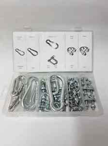 Carabina D-Shackle & Wire Rope Clip Assortment 30PC