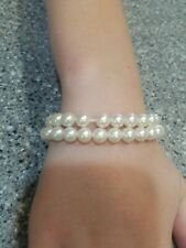 Avon 2 Strands Of Faux Pearls Gold Tone Snap Clasp