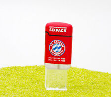 V-Fire Feuerzeug Easy Torch Rubber 3D Relief FC Bayern Sixpack rot - Jet Flame