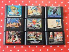 9x Sega Mega Drive Giochi raccolta di package CRASH DUMMIES Sonic ecco Aladdin 3in1