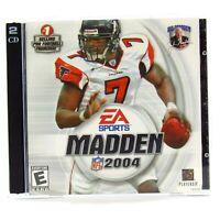 Madden NFL 2004 PC-CD Rom 2003 No Manual
