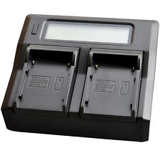 LCD Fast Dual Battery Charger for Canon BP-911 BP-945 GL1 GL2 XL1 XL1S XL2 Mini