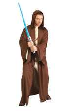 Hooded Jedi Robe Mens Fancy Dress Star Wars Sci Fi Movies Adults Costume Cape