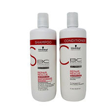 Schwarzkopf Bonacure Repair Rescue Shampoo and Conditioner Liter Duo 33.8 oz