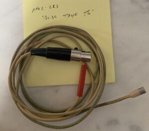 Sennheiser MKE 2-2R3 Lavalier Microphone w/ Shure TA4F 4 Pin Mini Xlr