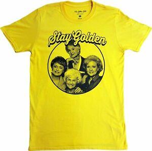 Men's The Golden Girls Cast Stay Golden Retro Vintage Yellow T-Shirt Tee New