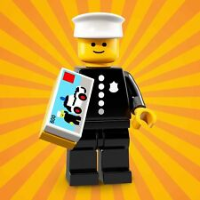 LEGO MINIFIGURES SERIE 18 71021 - 8 CLASSIC POLICE OFFICER poliziotto UNA MIN...