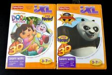 Lot Of 2 Fisher-Price iXL Learning System Dora The Explorer Kung Fu Panda