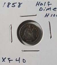 1858 H10C Liberty Seated Half Dime - Nice XF toned coin.