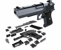 43 PC BUILDING BLOCK LEGO TYPE GUN PISTOL DESERT EAGLE 3D PUZZLE DIY MODEL