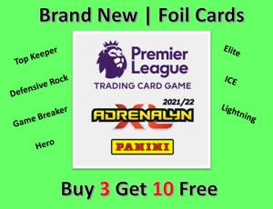 PANINI PREMIER LEAGUE 2021/22 21/22 ADRENALYN XL FOIL CARDS - ELITE/ HERO ETC