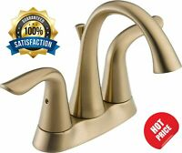 Delta Lahara 2 Handle Centerset Bathroom Faucet Diamond Seal Metal Drain Bronze
