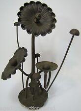 Orig 1970s Floral Plant Metal Decorative Art Sculpture Brass Copper RW Mutz