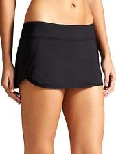 NWT Athleta Kata Swim Skirt 2 /Skort, BLACK SIZE L          #153149  v/v59