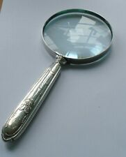 French Silver Handle Magnifying Glass