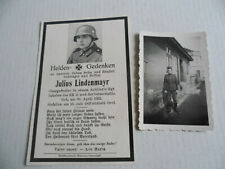 Sterbebild Death Card WW2 OG Artillerie EK2 + Ost Orel + Foto 21 Jahre