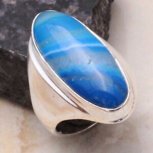 Botswana Agate Ethnic Handmade Man's Ring Jewelry US Size-10 AR 46591